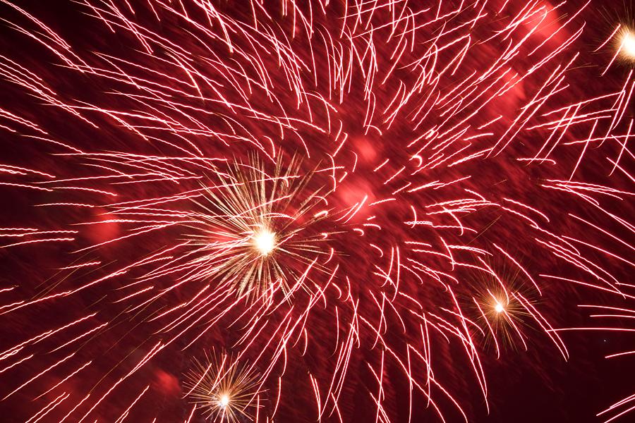 verwackeltes Feuerwerk