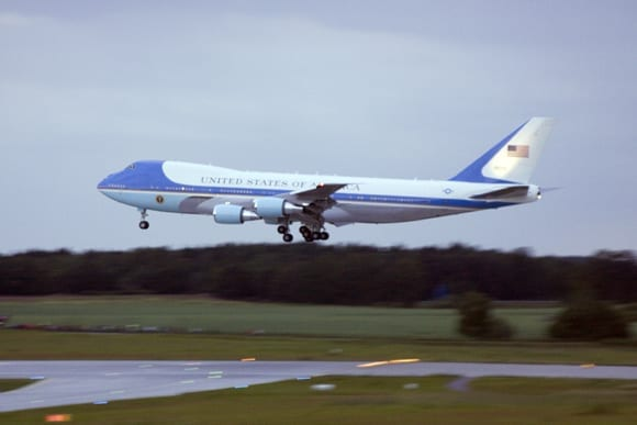 Landung der Air Force One in Dresden