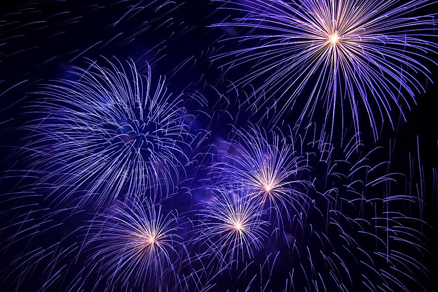 Blauer Feuerwerkseffekt