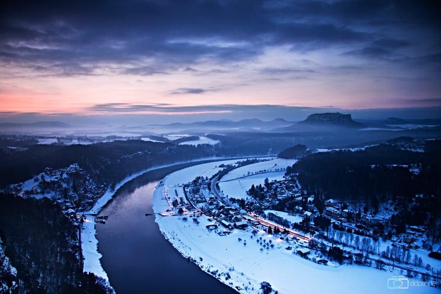 Eisiger Wintermorgen
