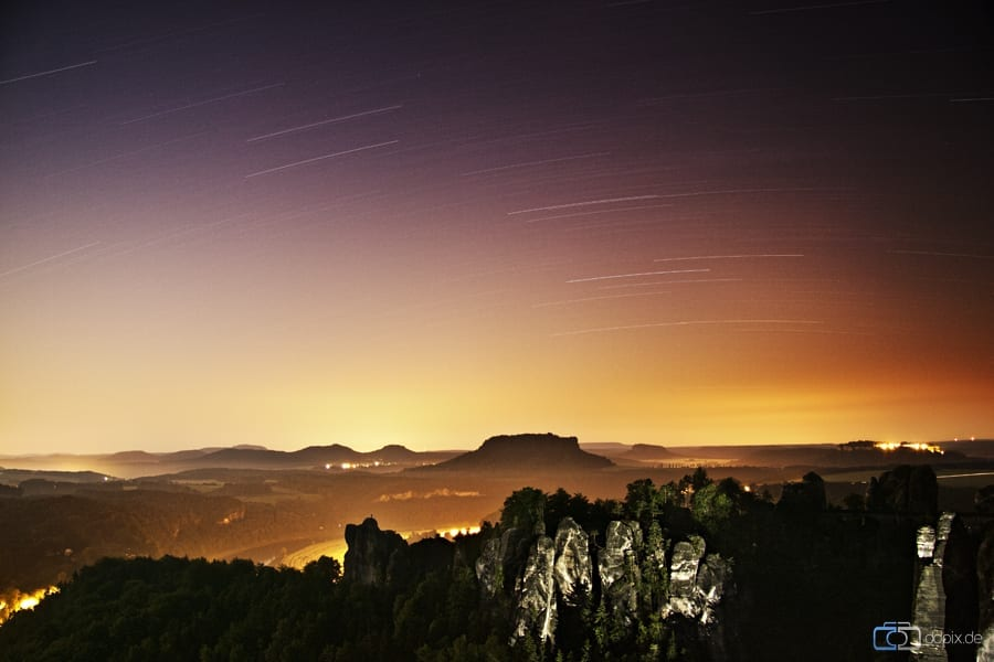 Nachts unterwegs in der Bastei