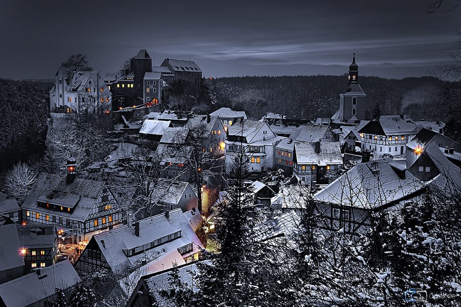 Winterliches Hohnstein