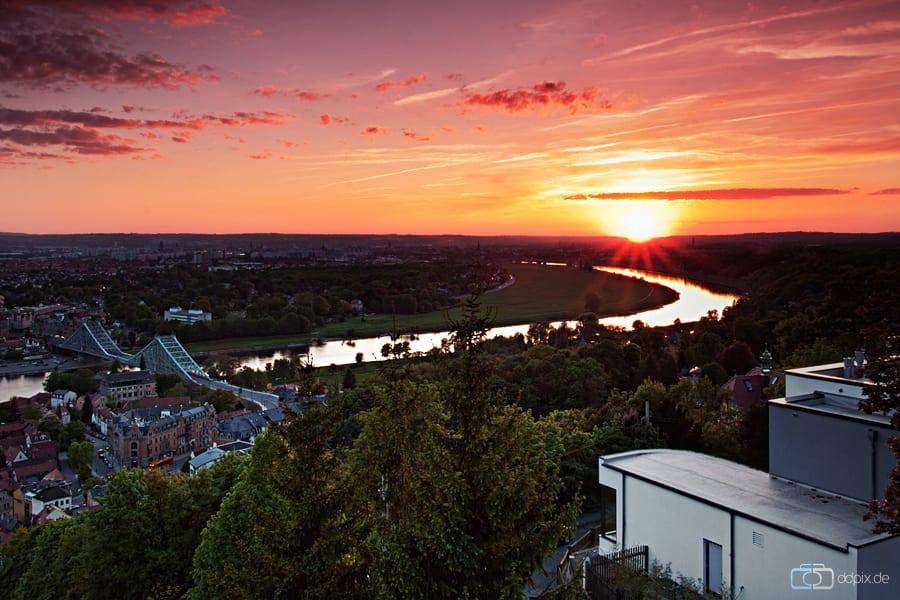 Sonnenuntergang über Dresden