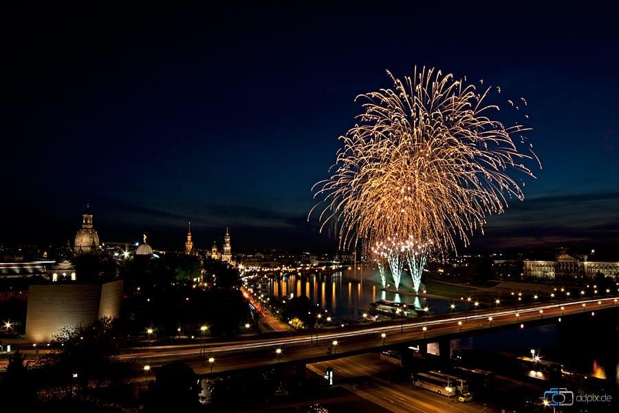 Feuerwerk am 05.05.2011 in Dresden