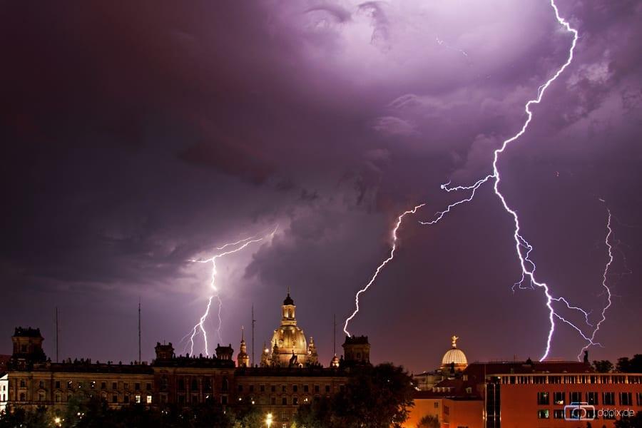 Heftige Unwetter über Dresden