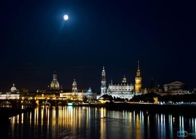 Eine Vollmondnacht in Dresden