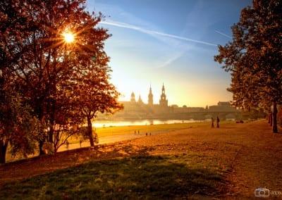Der goldene Herbst in Dresden