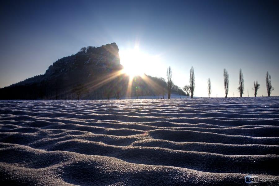 Der Lilienstein im Winter