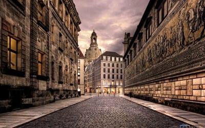 Der Dresdener Fürstenzug im Januar