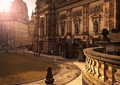 Dresden an einem milden Tag im Februar.