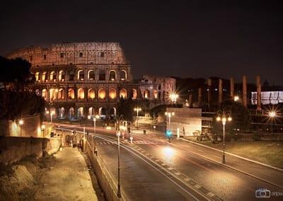 Das Kolosseum am Abend.