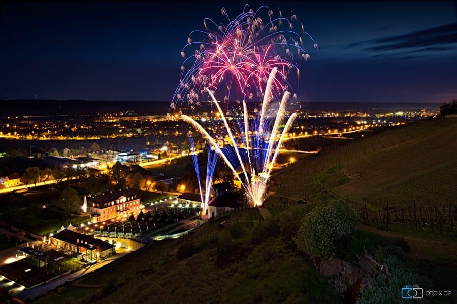 Feuerwerk am Schloß Wackerbarth