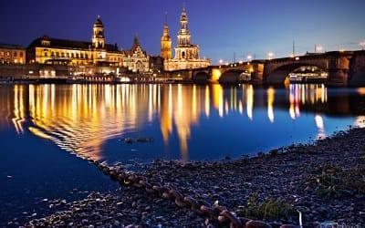 Blick auf Dresden.
