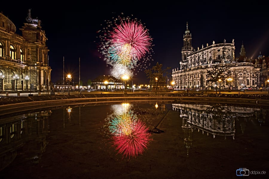 Feuerwerk am Königsufer