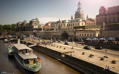 Dresden an einem schönen Sommertag.