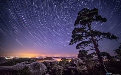 Wie entsteht dieser Sternschnuppeneffekt?