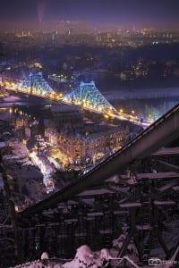 Blick auf das winterliche Dresden