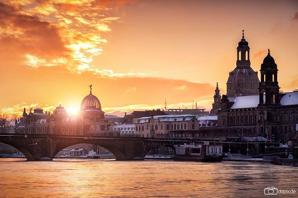 kalter Wintermorgen in Dresden