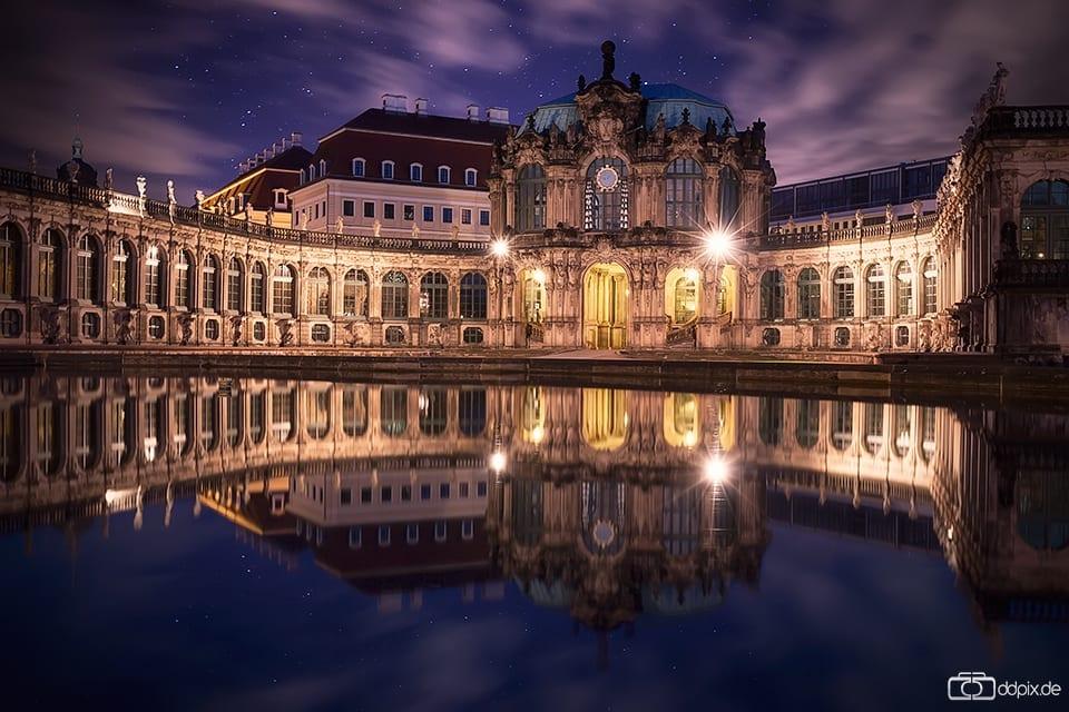 Der Dresdner Zwinger am Abend