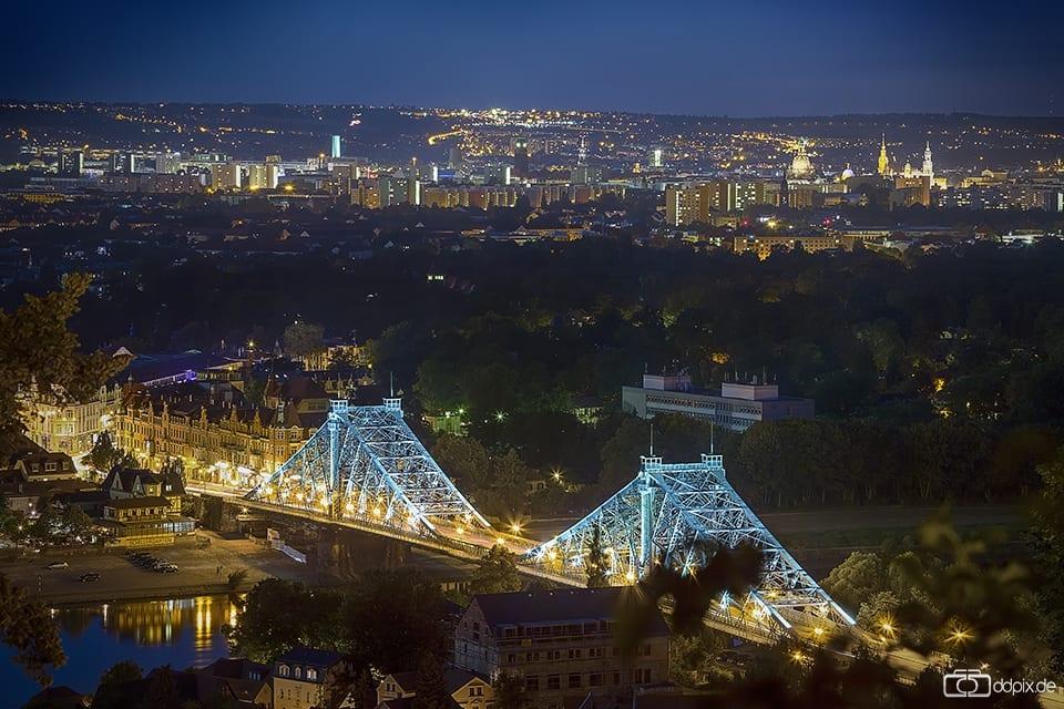 funkelnde Stadtlichter