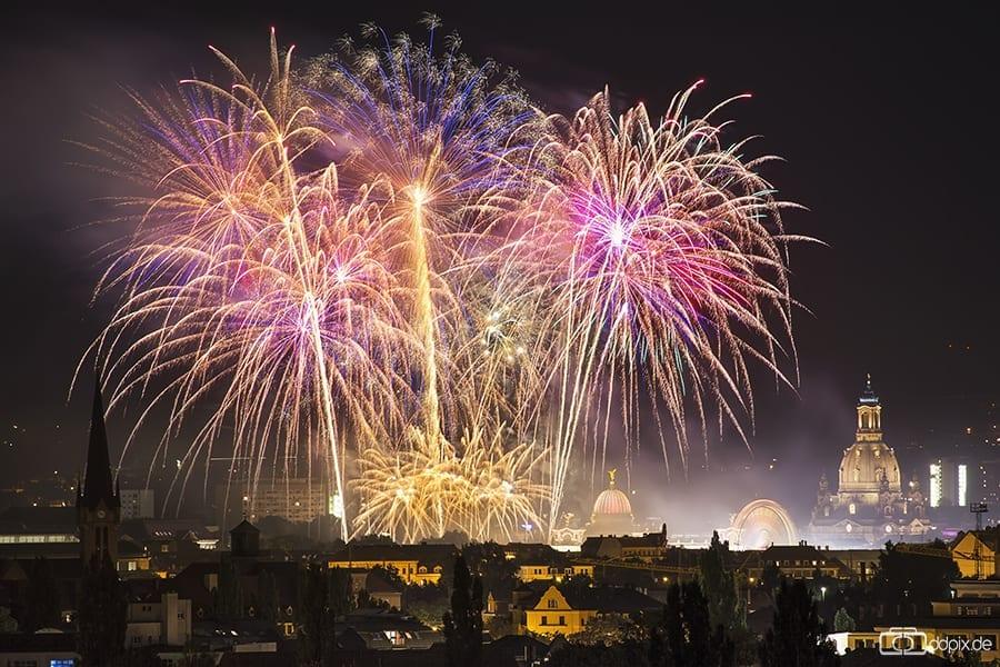 Stadtfest-Feuerwerk