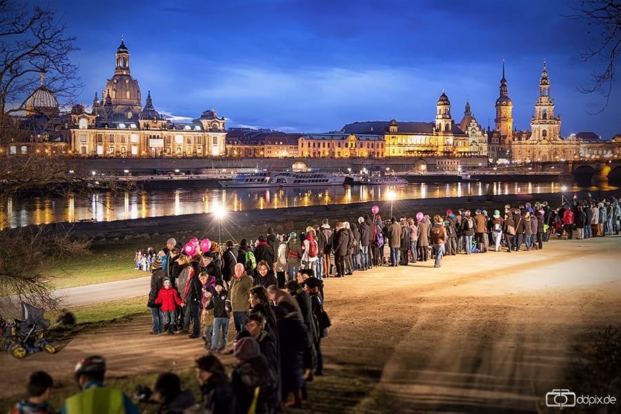 Dresden gedenkt der Zerstörung