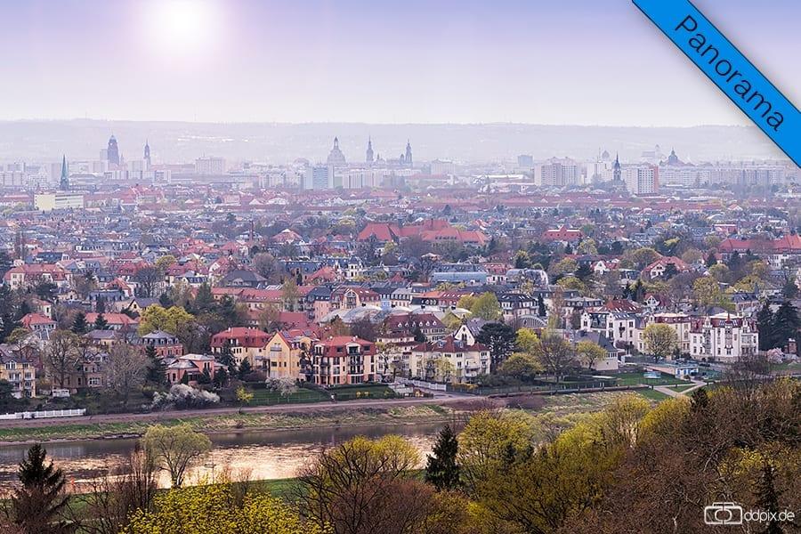 Blick über das Elbtal (Panorama)