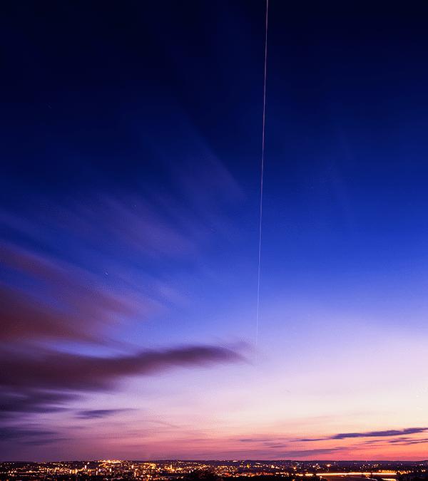 Die ISS über Dresden