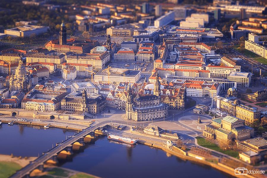Ballonfahrt über Dresden