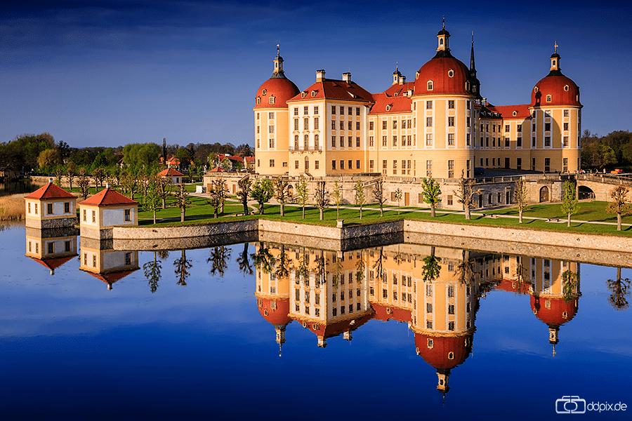 Schloss Moritzburg zum Sonnenaufgang