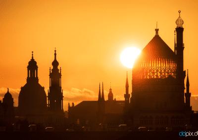 00347 | Die Dresdner Altstadt zum Sonnenaufgang