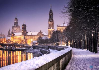 00353 | Das winterliche Dresden am Abend