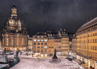 00354 | Blick auf den Dresdner Neumarkt im Winter