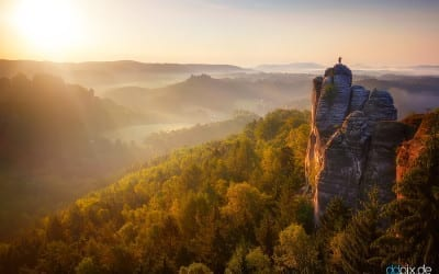 Der Mönchfelsen zum Sonnenaufgang