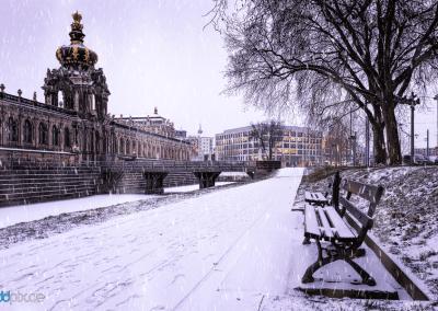 00350 | Der Dresdner Zwinger im Winter