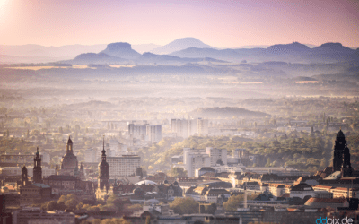 Blick auf Dresden und die Sächsische Schweiz