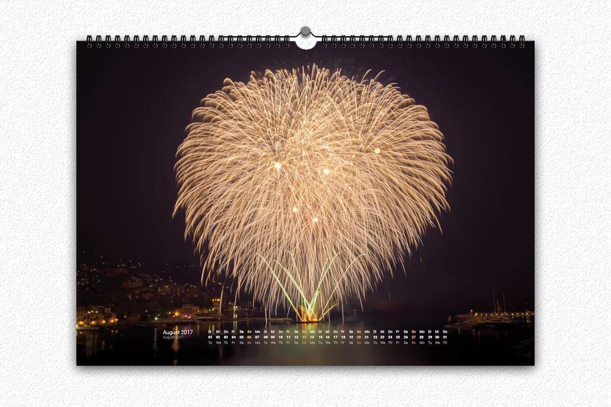 Feuerwerk Kalender 2017