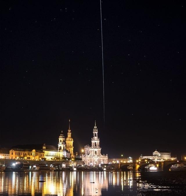 ISS über Dresden
