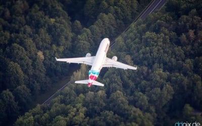 Flug 4U9022 ganz nah!