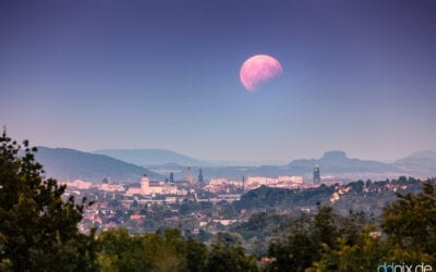 partielle Mondfinsternis über Dresden
