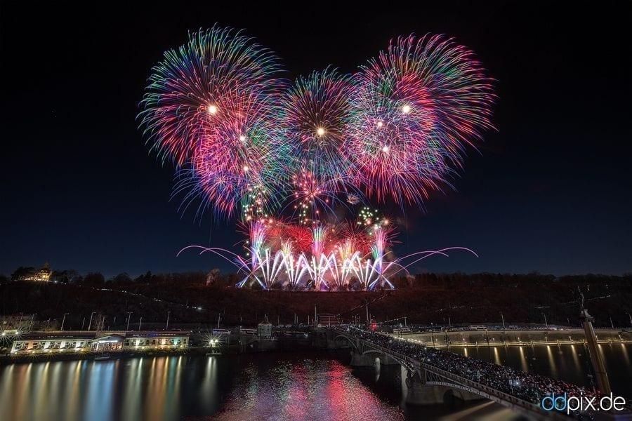 Neujahrsfeuerwerk 2018 in Prag