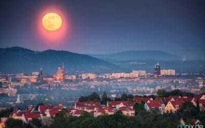 Mondaufgang über Dresden