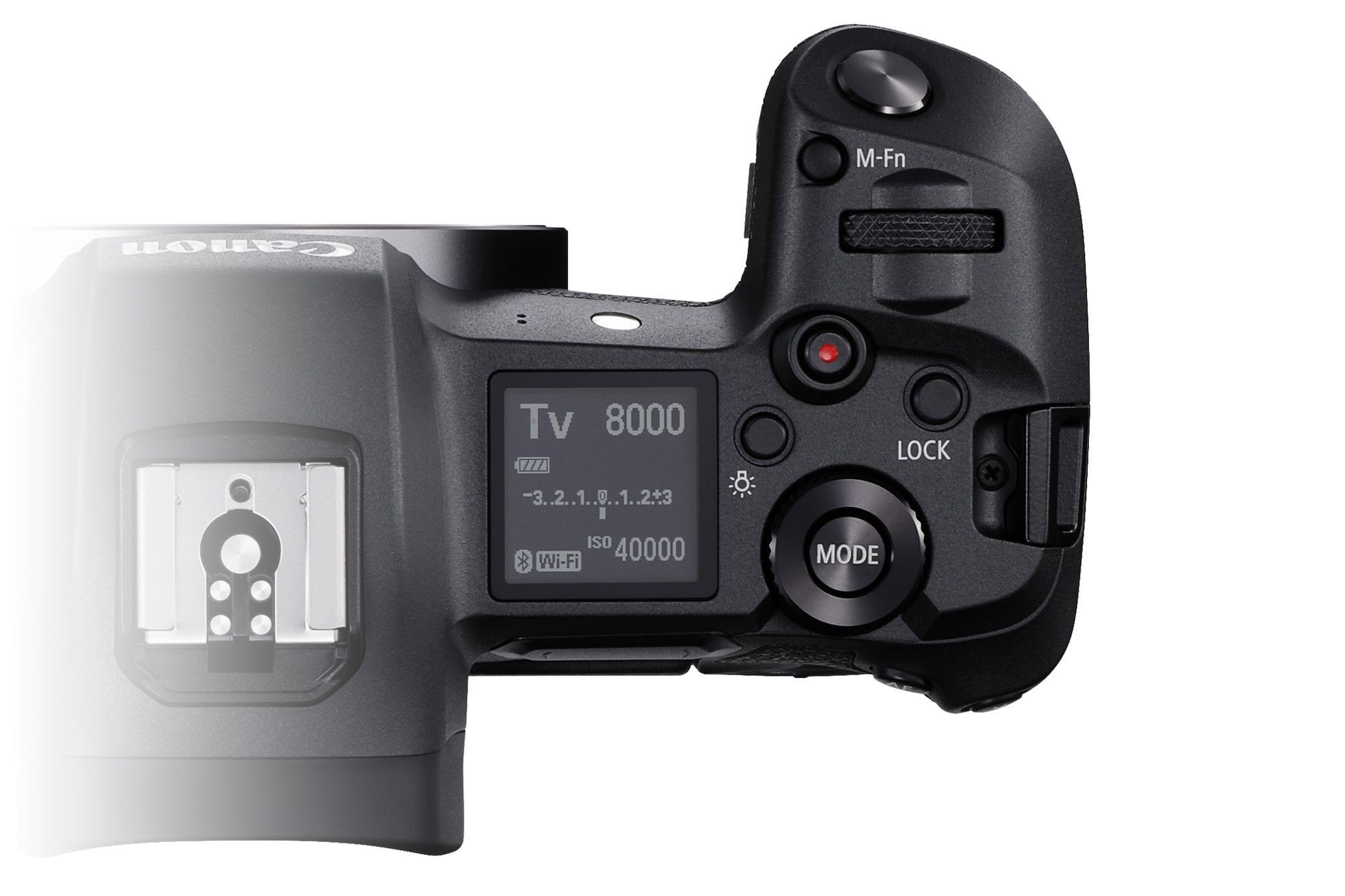 Die Canon EOS R von Oben