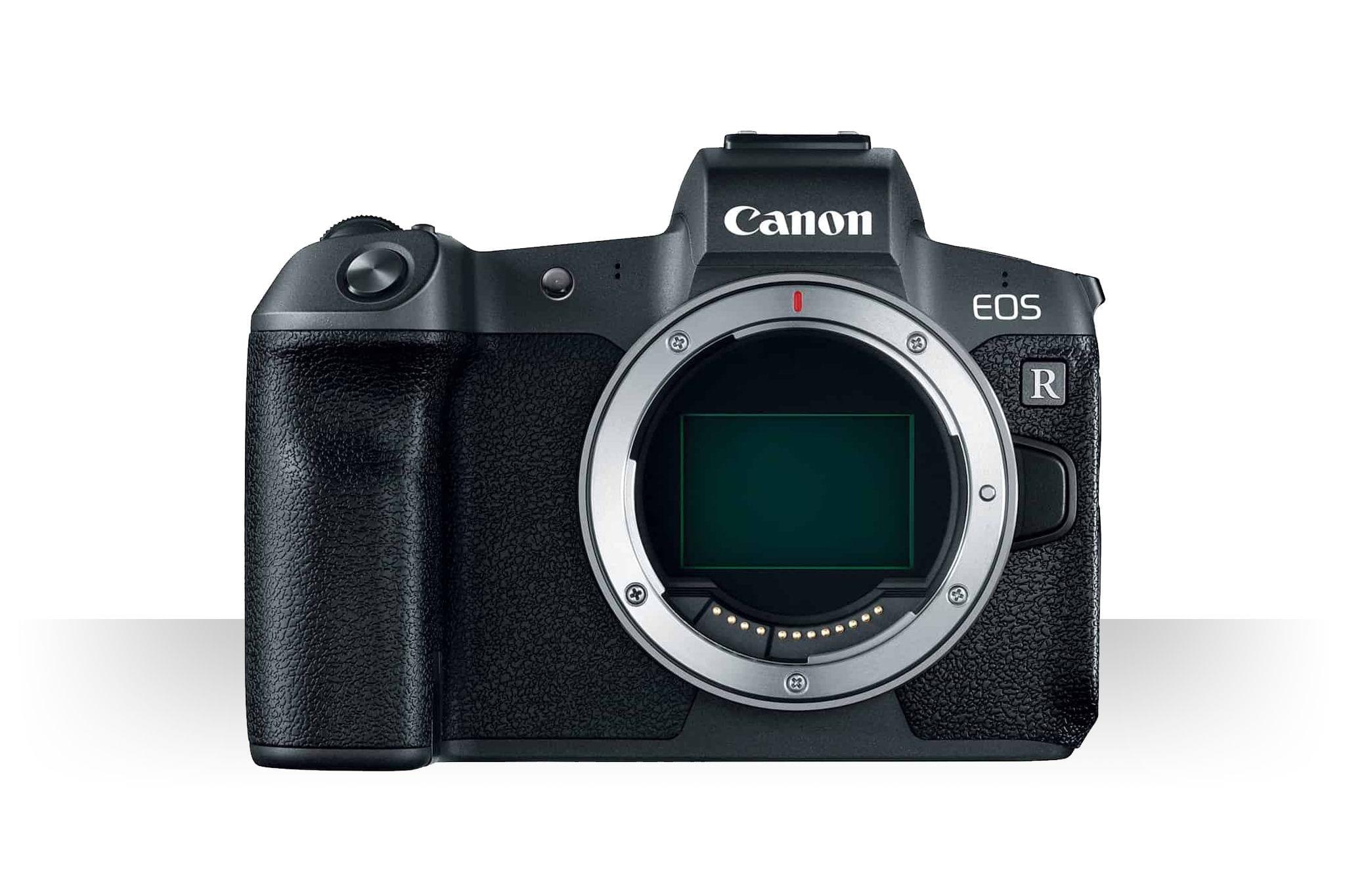Die Canon EOS R von Vorn