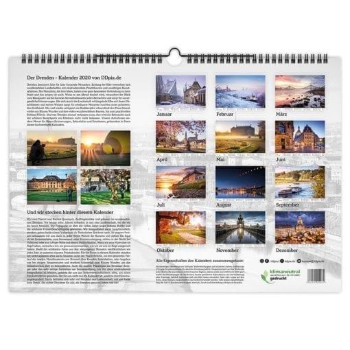Dresden Kalender 2020 Rückblatt