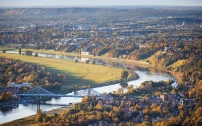 Blick vom Dresdner Fernsehturm