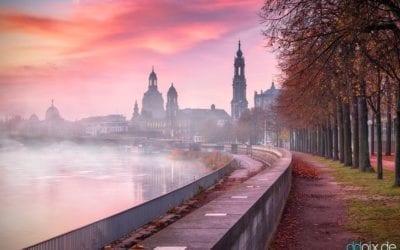 Herbstzeit bedeutet Nebelzeit in Dresden