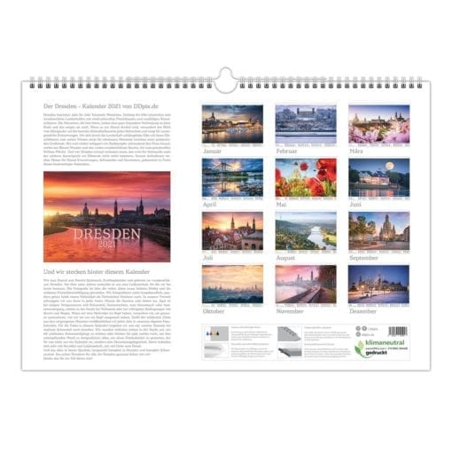 Dresden Kalender 2021 Rückblatt