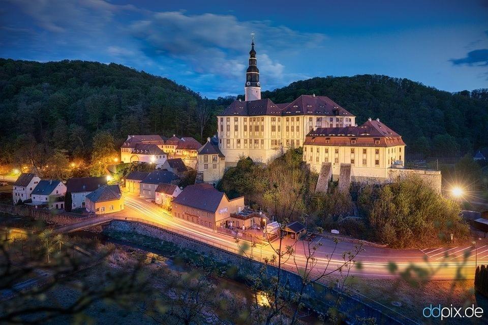 Schloss Weesenstein zur Blauen Stunde
